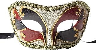 BLEVET Retro Men's Venetian Masquerade Mask Party Halloween Christmas Carnivals Masks BK016