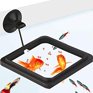 Feeding Ring - Practical Floating Food Square - Reduces Waste & Maintains Water Quality - Suitable for Flakes & Other Floating Fish Foods - for Guppy, Goldfish and Other Smaller Fish