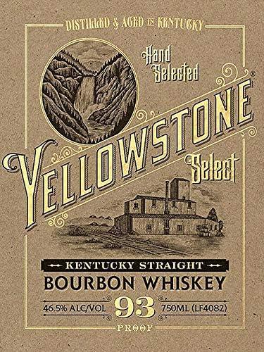 Yellowstone Vintage Kentucky Bourbon Vintage Retro Metal Tin Sig