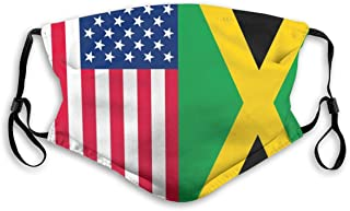 Best American Jamaican Flag Washable Reusable Dust Filter and Reusable Mouth Warm Windproof Cotton Face Review