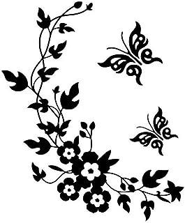 Toruiwa Wandtattoo Wandsticker Schmetterling Blume Wandaufkl