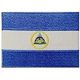 Nicaragua-Flagge, bestickt, zum Aufbügeln oder Aufnähen, Nationalemblem