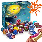 Magictoy 36 Packs Party Favors Galaxy Slime, Stretchy & Non-Sticky, Stress Relief Slime Balls, for Sensory and Tactile Stimulation, Stress Relief, Prize, Party Favor, Educational Game, Girls & Boys
