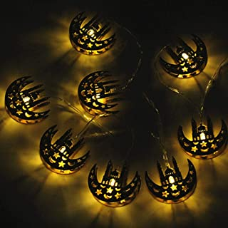 2450d03e4 Moon Star String Light, Tuscom 5.5ft 10 LED Ramadan Mubarak Light  Decorations Moroccan Party