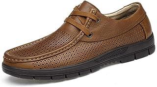 Dingziyue scarpe casual, scarpe da uomo in pelle, morbido fondo scarpe da lavoro (Colore: nero, Taglia : 42)