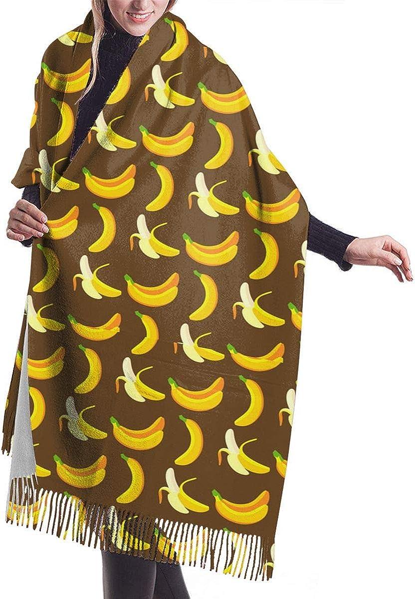 Banana Pattern Winter Scarf Cashmere Scarves Stylish Shawl Wraps Blanket