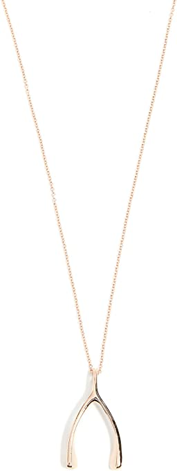 Jennifer Meyer Jewelry Women's 18k Rose Gold Wishbone Necklace