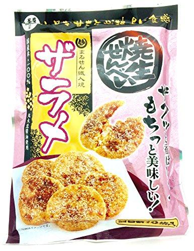 まるせん米菓焼生せんべいザラメ10枚×10袋