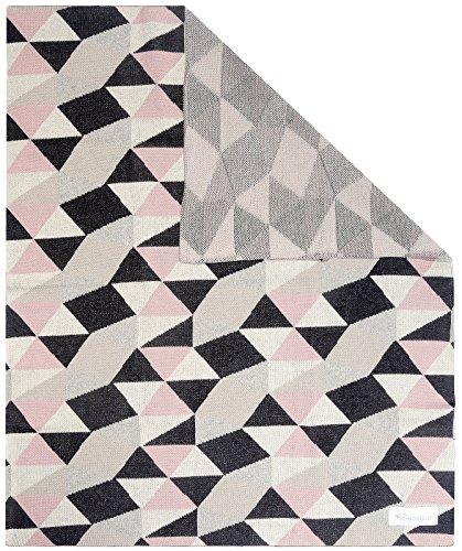 Kindsgut Manta para Niños, Manta Suave para Bebes, con triángulos, Algodón, 80 x 100 cm, Manta Acogedora para Bebes/Niños pequeños, ecológico y libre de contaminantes