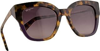 Salvatore Ferragamo SF856S Sunglasses Tokyo Havana Purple w/Grey Gradient Lens 53mm 285 SF 856S