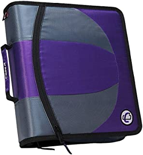 Case-it Dual Zipper 1.5 Ring Zipper Binder Tone Purple
