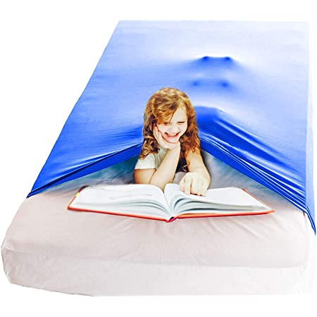 """Nappo Sensory Compression Sheet for Kids and Adults-Weighted Blanket Alternative, Cool, Stretchy,Breathable Sheets (54""""x60"""" Royal Blue)"""