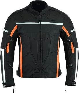 Best black and orange leather motorcycle jacket Reviews