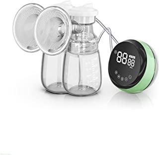 Breast Pump Electric Breast Pump Protable Dual Breastfeed Milk Pump Touch Screen Massage Adjustable Mode 12-speed Silent L...