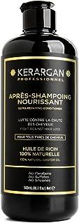 Kerargan - Après Shampoing à l'Huile de Ricin et d'Argan et Camomille - Stimule la Pousse, Anti-chute - Hydrate, Nourrit, ...