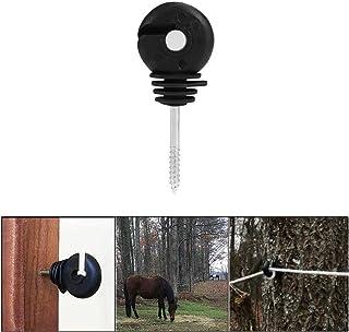 IFIRE 25 Pcs Black Electric Fence Insulators Screw-in Insulator Fence Ring Post Wood Post Insulator