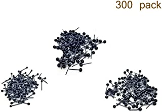 300pcs (3 Size 2mm/3mm/4mm Mixed) Mini Black Glass Eyes on Wire Amber Toy Teddy Eyes Puppets Dolls Crafts,100pcs (50pairs) per Size