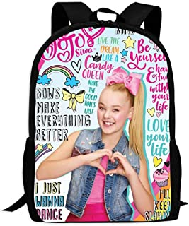 Big Student Backpack Funny JoJo-Siwa Full Printed School Computer Bag Large Capacity Laptop Backpack for Mens Students College School Travel
