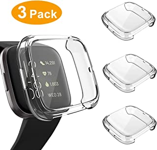 3 Pack Screen Protector Compatible Fitbit Versa 2 Case, GHIJKL Ultra-Thin Slim Soft TPU..