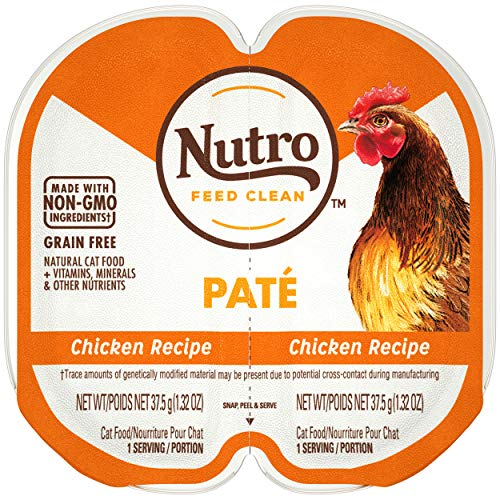 NUTRO Perfect Portions Grain Free  Natural Wet Cat Food, Paté, Chicken, (24) 2.6 oz. Twin-Pack Trays