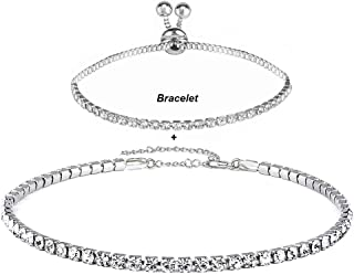 Best crystal choker necklace Reviews