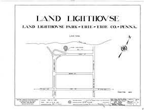 Historic Pictoric Structural Drawing HABS PA,25-ERI,5- (Sheet 0 of 2) - Land Lighthouse, Front Street, Land Lighthouse Park, Erie, Erie County, PA 55in x 44in