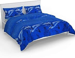 CrazyLooks Cotton 150 TC Bedsheet (Standard_Blue)