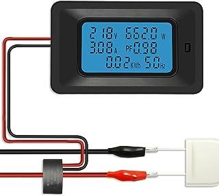 KKmoon デジタル 電力計 電圧メーター ワットモニター エネルギーメーター LCD 100A 5KW 周波数メーター 電圧計 電流計 電流 アンプ ワット メーター