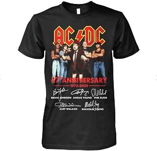 AC&DC 47th Anniversary signatures Team Band Unique Design t Shirt