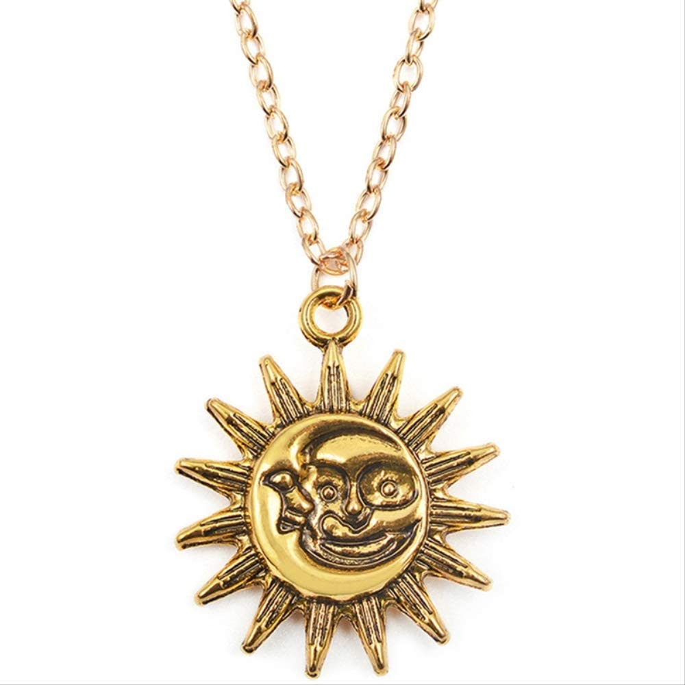 Naswi Cute Small Sun Pendant Necklace for Women Color Necklace Chain Choker Necklace Bohemian Collar Jewelry Girls Birthday Gift