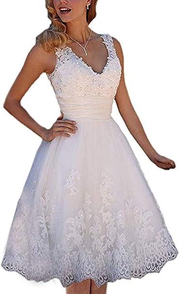 Spitze hochzeitskleid kurz Hochzeitskleider schlicht