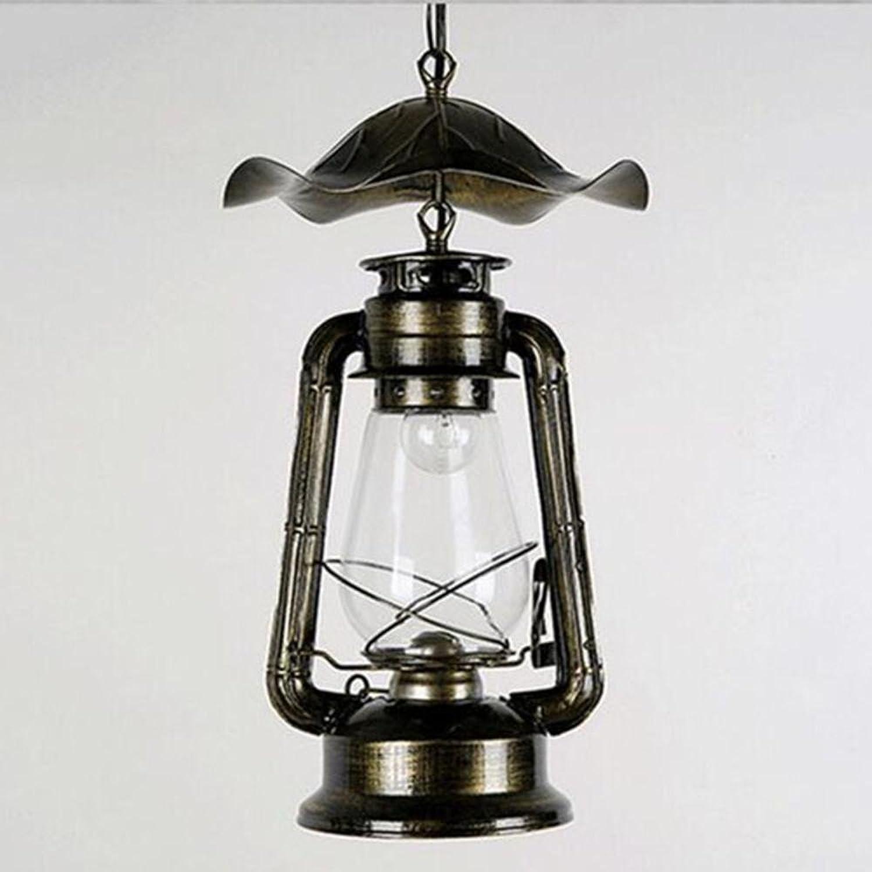 Creative personnalité Lustre de café Retro Lustre de fer Luminaires souples Lampe à pétrole, m -300