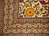 India Arts Sunflower Print Tapestry Cotton Bedspread 108' x 88' Full-Queen Yellow