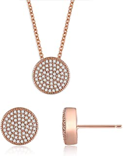 Gercia 14K Rose Gold Jewelry Set 5A Cubic Zirconia...