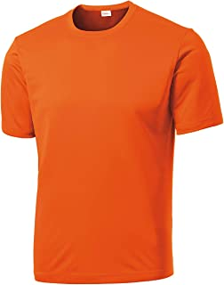 Men's Big & Tall Short Sleeve Moisture Wicking Athletic T-Shirts Regular Sizes & XLT's