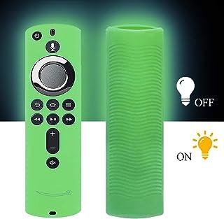 Silikon Schutzhülle für TV Firestick 4K / TV (3. Generation), kompatibel mit Fernbedienung der 2. Generation Glowgreen