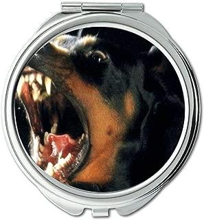 Mirror,Small Mirror,Bulldog Puppies dogs pets mad dog,pocket mirror,1 X 2X Magnifying