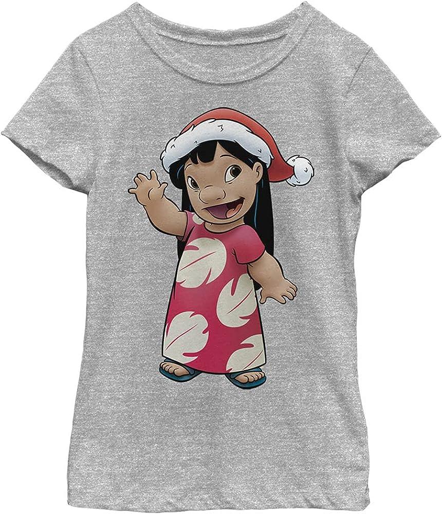 Disney Lilo & Stitch Lilo Holiday Girl's Heather Crew Tee