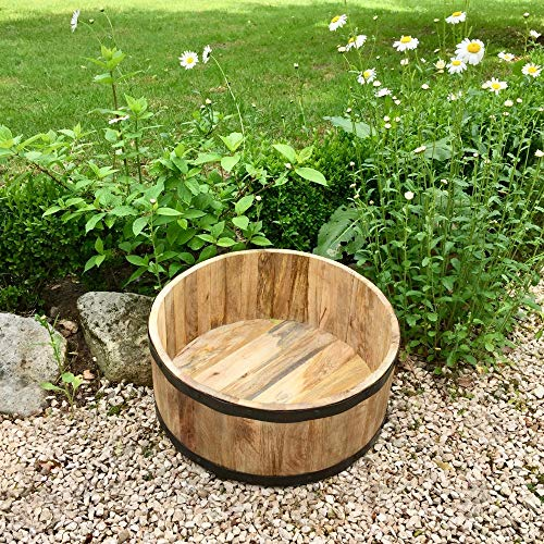 Antikas - Holzkübel für die Terrasse-Holzbottich Pflanzgefäße aus Holz Pflanzkübel Kübel