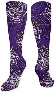 MISS-YAN, Spider And Net Calcetines para hombres y mujeres, divertidos y locos, para carreras, deporte, trel, deporte, calcetines de calf