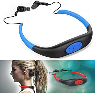 iTecoSky IPX8 Waterproof 4GB Underwater Sport MP3 Music Player Neckband Stereo Audio Earphone Headset Headphone Mini Porta...