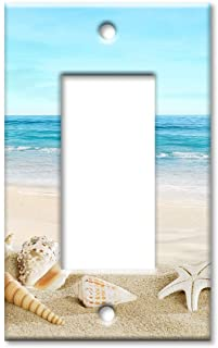 Seashells on The Beach - Oversize Switch Plate/Over Size Wall Plate, Multicolored, 2835-OVR