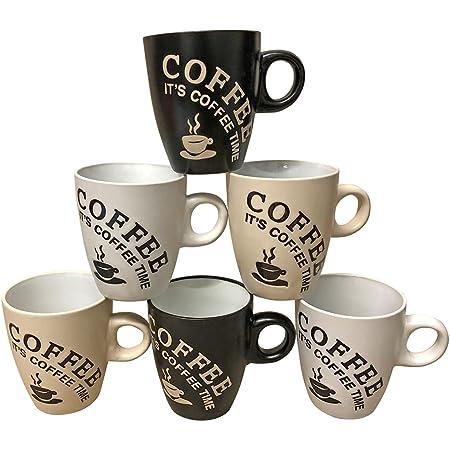 Lot de 6 tasses à café 150 ml en céramique