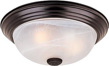 """1257L-ORB-AL Flushmount سقف نور نفت مالش برنز 3 نور 15 """"فیکسچر"""