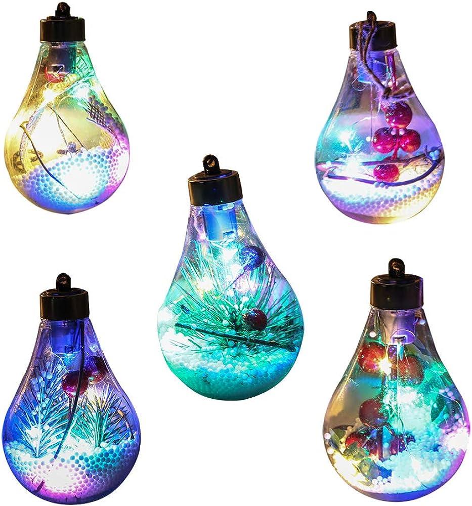 Aceley ornamenti palla albero di natale con luci a led Z15C6X24MT195L