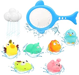 Barwa Baby Bath Toys Baby Fun Floating Bath Toy Cartoon Earth & Marine Animals Bathtub Shower Toys for Kids - Fun Learning...