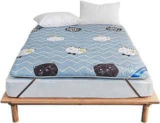 PQXOER Colchón Plegable sábana Bajera Supersuave para colchón (Azul), poliéster, Azul, 90x200cm