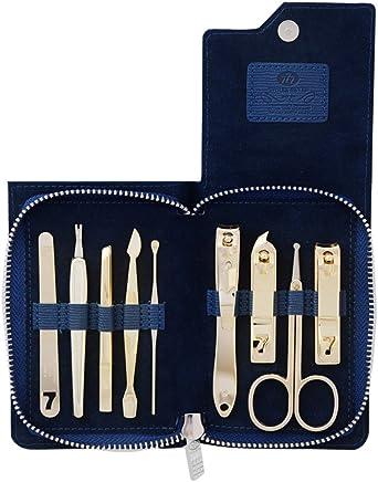 韩国777指甲刀套装 指甲剪9件套 美甲套装正品 NTS-1021G指甲钳 蓝色