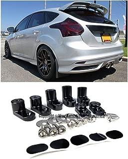 EOS Rear Wing Spoiler Riser Extender Lift Kit Black - For Ford Focus ST Hatchback 13-Up 2013 2014 2015 2016 2017