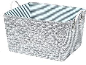 JUAN Laundry basket PlasticBasket Storage Box Handle Strap,Laundry Hamper Storage Basket Bin,Nursery Toy Organizer (Color : Silver, Size : 35 * 42 * 25)